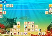 Mahjong connect de la mer et Poseidon