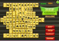 Mahjong en noir et jaune