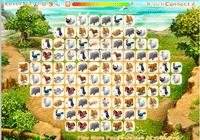 Jeu de mahjong avec les animaux de la ferme
