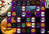 Mahjong et décor d'Halloween
