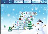 Mahjong glacé pour jouer en hiver.
