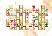 Mahjong avec fleurs