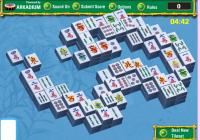 Jeux de mahjong, au jardin