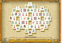 Mahjong fleuri