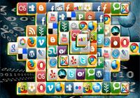 Jeu de mahjong de logos internet