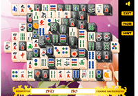 Jeu de mahjong: black and white