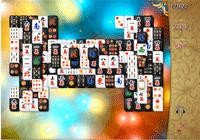 Jeu de mahjong en noir et blanc